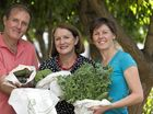 NEW SOLUTION: Max Reynolds, Wendy Allen and Helen Reynolds (right) of Greenleaf Bag show how their hemp product keeps produce fresh and healthy.