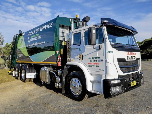 IMPRESSIVE: An Acco refuse truck. Iveco will display at the ITTES in the Waste Expo.