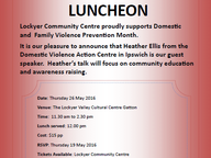 Lockyer Community Centre proudly supports Domestic and Family Violence Prevention Month.
