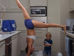 Fit mum's household workouts with kids