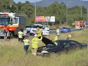 WATCH: Seatbelt saves man's life in Warrego Hwy crash