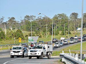 Traffic on Caloundra Road, Caloundra, Bruce Highway merge. Photo Patrick Woods / Sunshine Coast Daily
