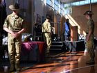 LEST THEY FORGET: Warwick State High School students and staff held a sombre and respectful ANZAC service this morning.