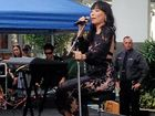 Dami Im performs for shoppers at the Hyperdome.