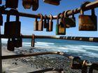 Locks at Ballina Lighthouse Lookout.