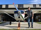 Steve Walz at the Marian Airfield and his hanger