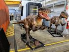 Ahead of their return to the Queensland Museum on 21 June 2016, the ferocious dinosaurs from Dinosaur Discovery: Lost Creatures of the Cretaceous have been spotted getting a makeover amongst the locomotives at The Workshops Rail Museum in Ipswich.