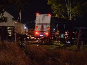 UPDATE: Crash truck driver suffered 'bowel obstruction'