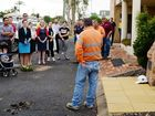 Craig Allen speaks to those gathered at International Workers Memorial Day. Photo Allan Reinikka / The Morning Bulletin