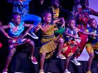 Persis Kisakye, Joey Nakabuye and Percy Namirembe, 7 from the Watoto Children's Choir who performed at Trinity College. April 28, 2016.