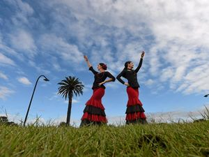 DANCERS: Arte Gitana instructors Serena Joy and Kelly Houghton .