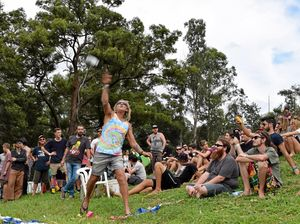 WATCH: Bong throwing at Nimbin MardiGrass