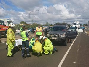 Moped and 4x4 collide on Takalvan St: man taken to hospital