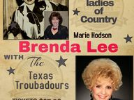 Patsy Cline and Brenda Lee Show with The Texas Troubadours. Putting the Country back into Country