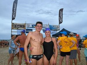Oceans of fun for hundreds at Byron Bay swim