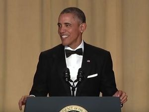 Obama burns Trump in final correspondents' dinner speech