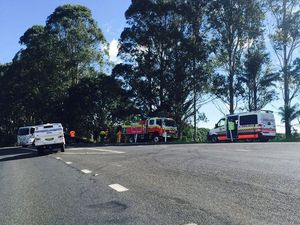 Road has reopened but traffic still heavy after Clunes crash