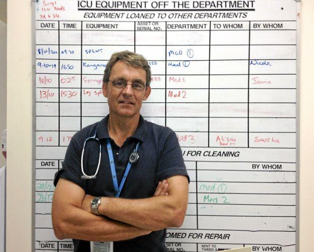Tweed Hospital Intensive Care Unit lead Dr Mike Lindley-Jones. Alina Rylko