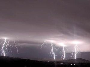 Spectacular lightning show to cap off long summer
