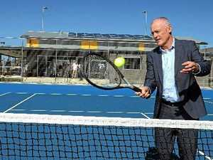 Sporting great visits for tennis championships