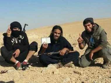Raphael Hostey (centre), 23, left Manchester to join Isis in 2013 and became a key recruiter of British fighters and jihadi brides for the terror group Twitter