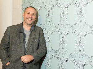 Renovation show features local artist's wallpaper design