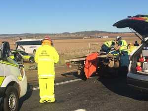 School bus crash closes New England Hwy