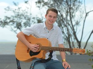 Michael Bacon has entered the Beaches Got Talent contest. Photo: Chris Ison / The Morning Bulletin