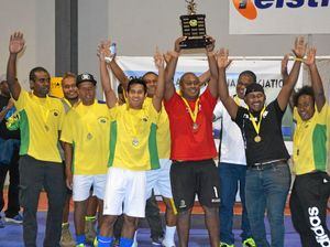 CHAMPIONS: The Solomon Island Lockyer Valley Community futsal team won the Solomon Islands Wantok futsal championship.