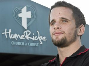 THOU SHALL NOT LOSE: Chaplain Matthew George calls on a higher power for his fight.