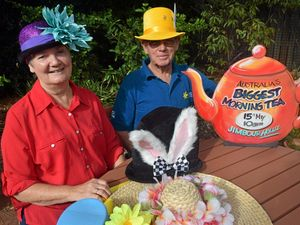 ALL SET: Barb Handley and  Wal Barton are preparing for the Dalby Biggest Morning Tea next weekend.