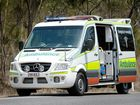 A MAN has been taken to hospital after being bitten by a snake this morning.