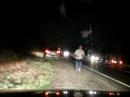 Dash Cam of Head-on Crash