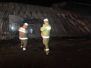 Fire-fighter hurt in $1million Darling Downs shed fire