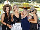 Kendall Geraghty, Lori Coates, Deanne Krueger and Tahlia McCaffrey at the St Edmund's race day at Bundamba on Saturday.