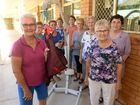 FUNDRAISER: Friends of Kepnock Grove Ancillary - Pauline Langford, Meg Stallard, Silvia Rinaldi, Lyn Asnicar, Myra Mallett, Sandra Dingle, Glenda Daley, Norma Short and Beryl Plath with the new Active Hoist. Photo: Mike Knott / NewsMail