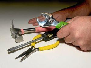 Man's privates caught in tool