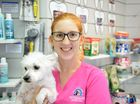 COOL PETS: East Bundaberg Veterinary Hospital vet Dr Claire Rich advises owners to watch out for their pets during hot weather, and to try and keep them comfortable and cool.