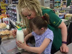 Cashier saves the day with a little kindness