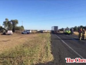 Lucky escape from serious truck crash