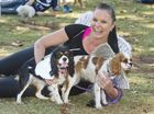 Emily Swann with Chloe and Charli . RSPCA Million Paws Walk. Sunday May 15 , 2016.