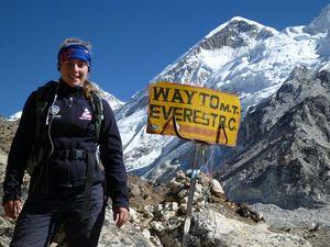 Alyssa Azar makes it safety to Mt Everest Base Camp