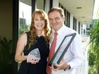 Sherene Devlin won the APNA Nurse of the Year award. Pictures with Ipswich Mayor Paul Pisasale.