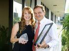 Sherene Devlin won the APNA Nurse of the Year award. Pictures with Ipswich Mayor Paul Pisasale.
