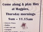 Come & play Hoy every Thursday morning!  A game like Bingo, but with cards instead. Raising money for Glenella State School P & C.
