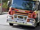 A POWER pole on fire closed a section of a Toowoomba street as firefighters worked to control the flames and make the area safe.