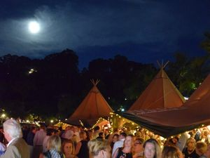 Tipi tent under the moon at the Food and Wine 2016