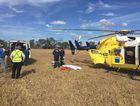Man airlifted after quad bike crash