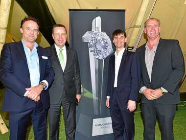 The Australian Event Awards will be held here for the next three years. (L-R) Acting CEO of Visit Sunshine Coast, Simon Latchford, CEO of Opera Australia, Craig Hassall, Managing Director of Australian Event Awards, Ian Steigrad and Cr Jason O'Pray.