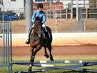 Ex-racehorse Tom has proved his passion for showjumping at the Lockyer Equestrian Group's dressage and more day.